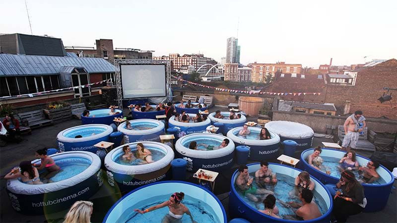 Forget Generic Outdoor Cinemas: Sydney's Getting A Hot Tub Cinema!