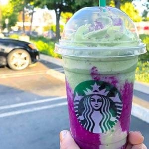 Starbucks' Dragon Frappuccinos!