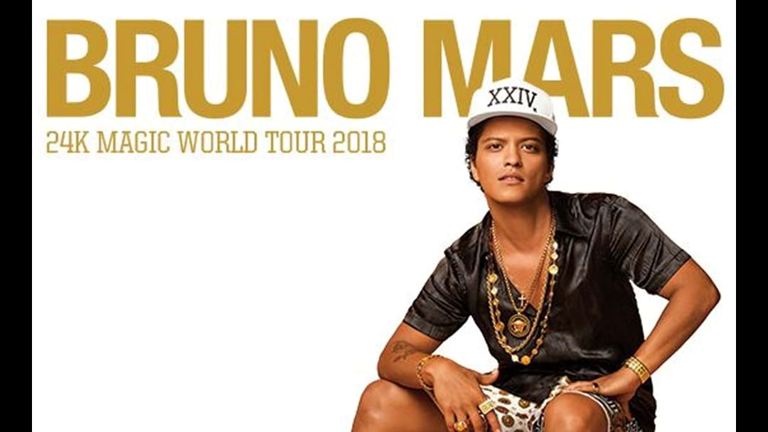 Bruno Mars Confirms His Aussie Tour And Weve Got The Details