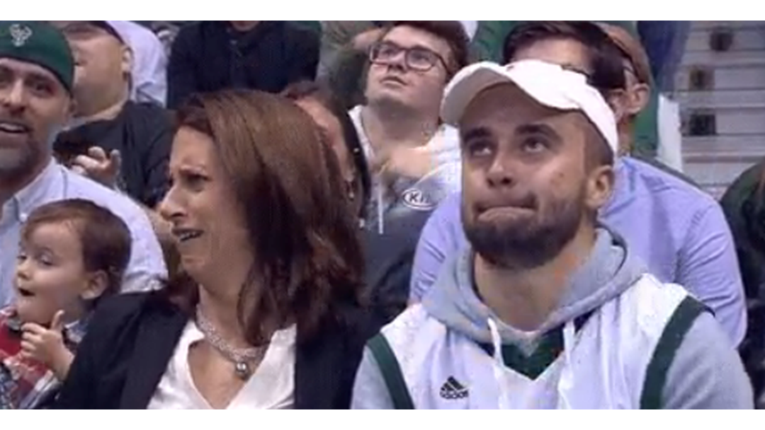Behold The Most AWKWARD Kiss Cam Moment Of All Time