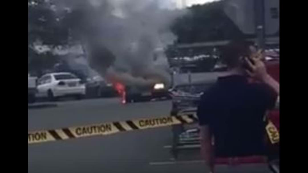 Car Goes Up In Flames At Chermside Shopping Centre