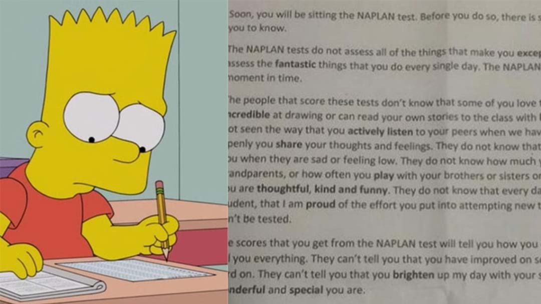 This Teacher's NAPLAN Letter To Her Student Is The Sweetest Thing Ever