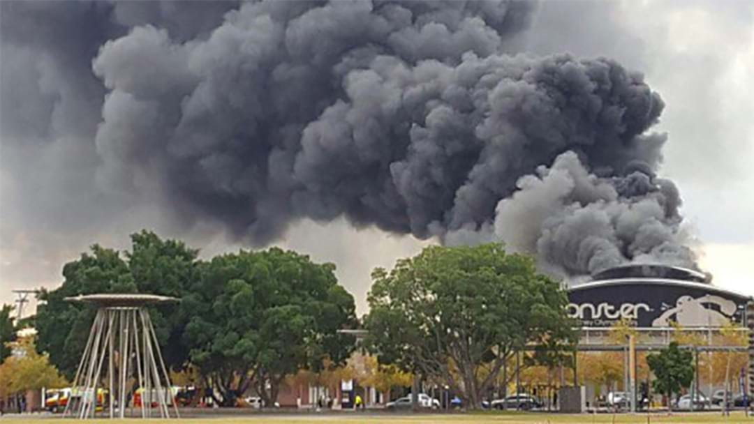 Massive Fire At Sydney Olympic Park