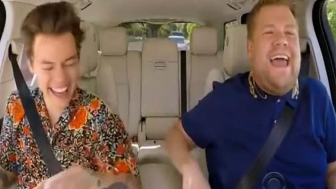 Harry Styles' Carpool Karaoke With James Corden Is Here!