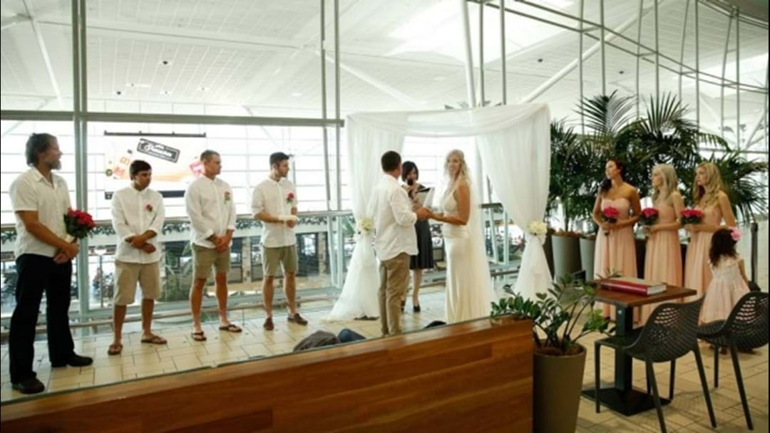 Couple Get Married At Brisbane Airport En Route To Their Honeymoon!