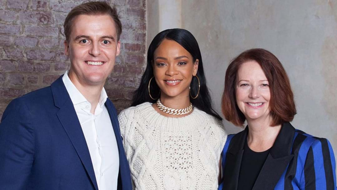BFFs Rihanna & Julia Gillard Teaching Kids Maths In Malawi Is The Best Thing You'll See Today