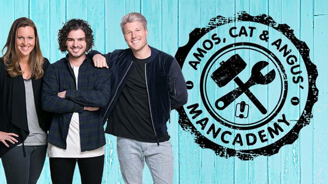 Amos, Cat & Angus' Mancademy