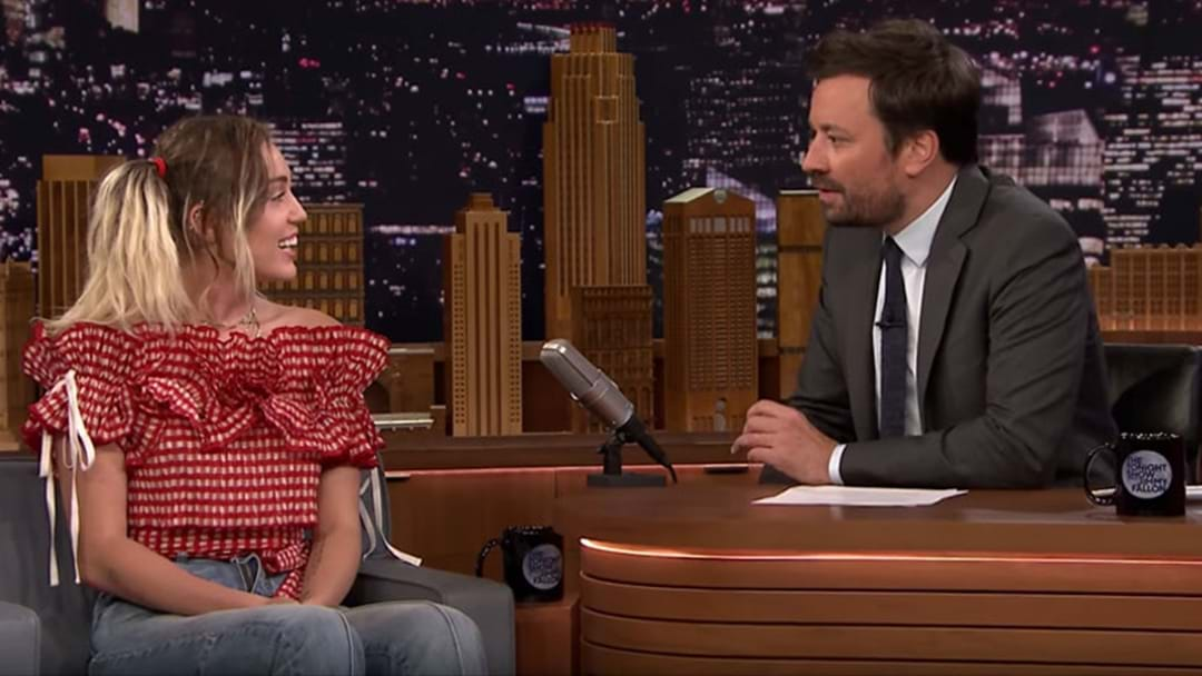 Miley Cyrus Says Jimmy Fallon Was The Reason She Quit Weed