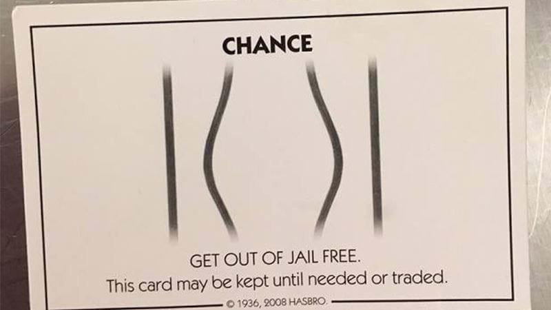 Minn. Man Arrested Despite Carrying 'Get Out of Jail Free' Card