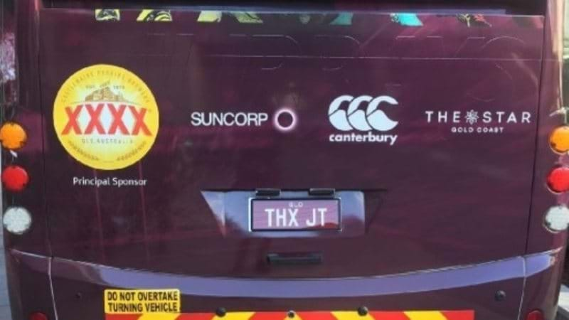 Article heading image for Origin Team Pay Respect To JT With Rego Plate