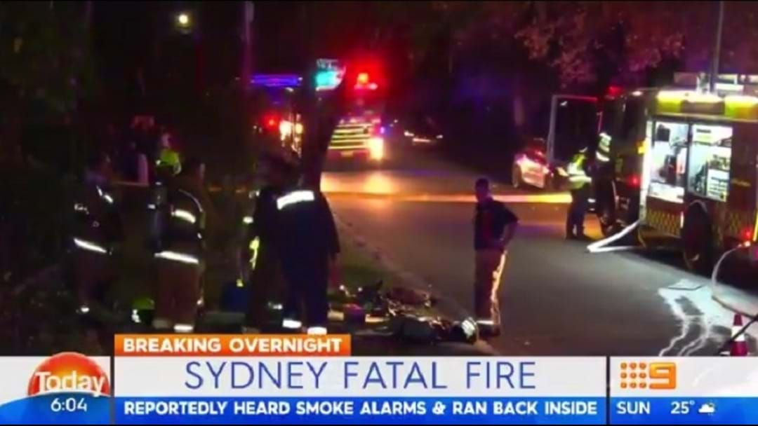 Elderly Man Dies Going Back into Burning Sydney Home