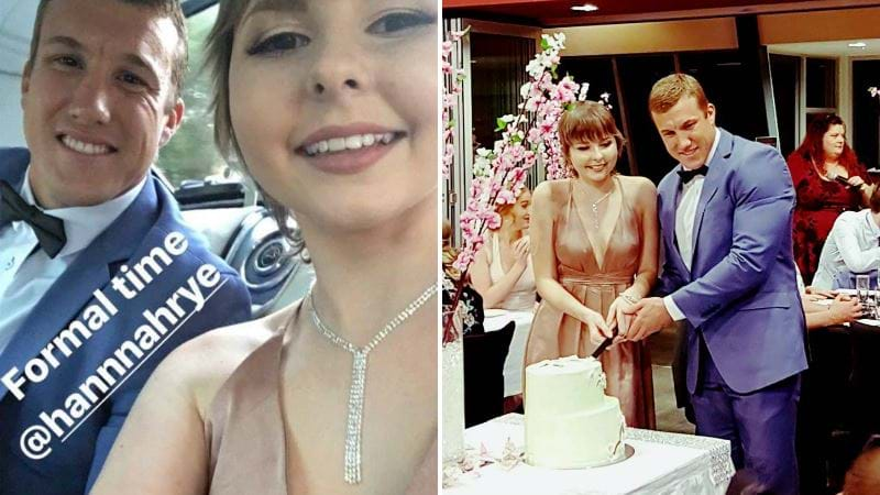 Knights player takes terminally ill teen to her formal
