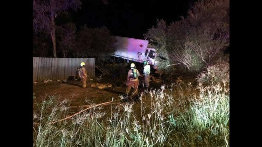 Man airlifted after crashing stolen truck into home