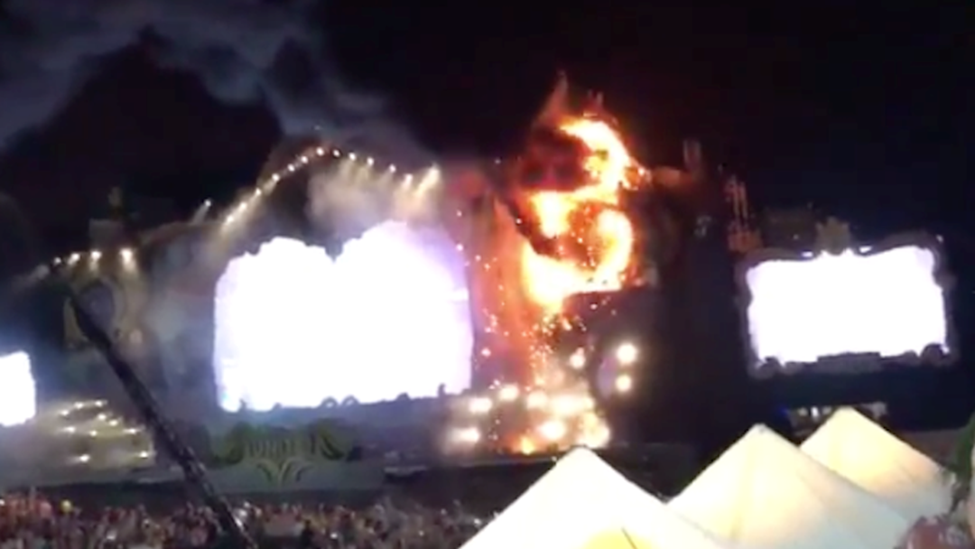 22,000 People Evacuated After HUGE Fire At Tomorrowland