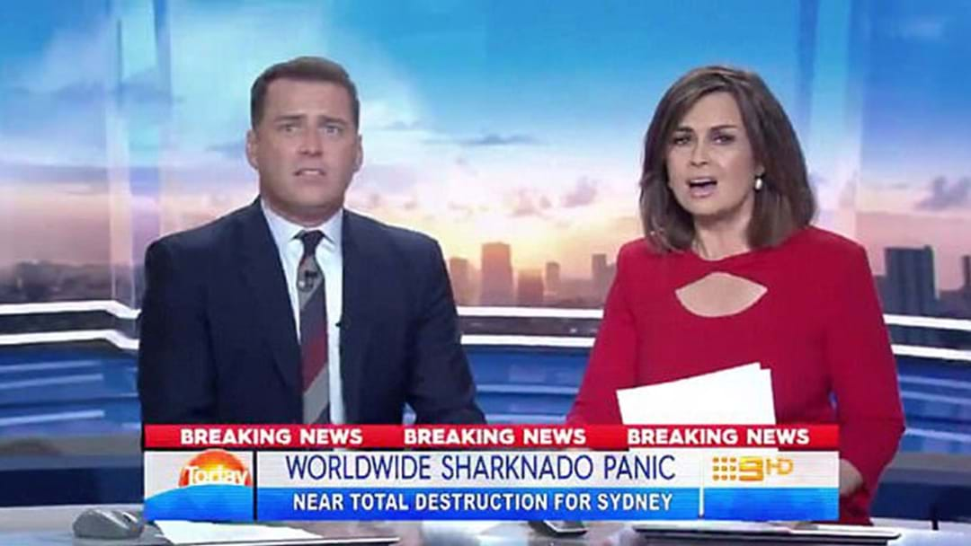 Here's Your First Look At Karl Stefanovic & Lisa Wilkinson In 'Sharknado 5'
