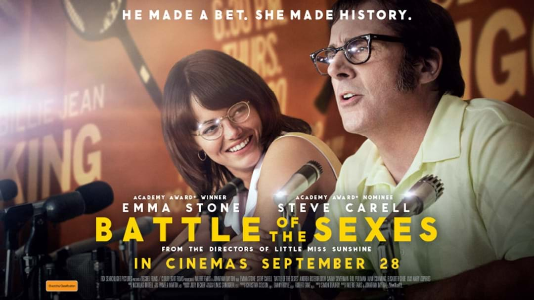 Your chance to WIN tickets to see BATTLE OF THE SEXES!