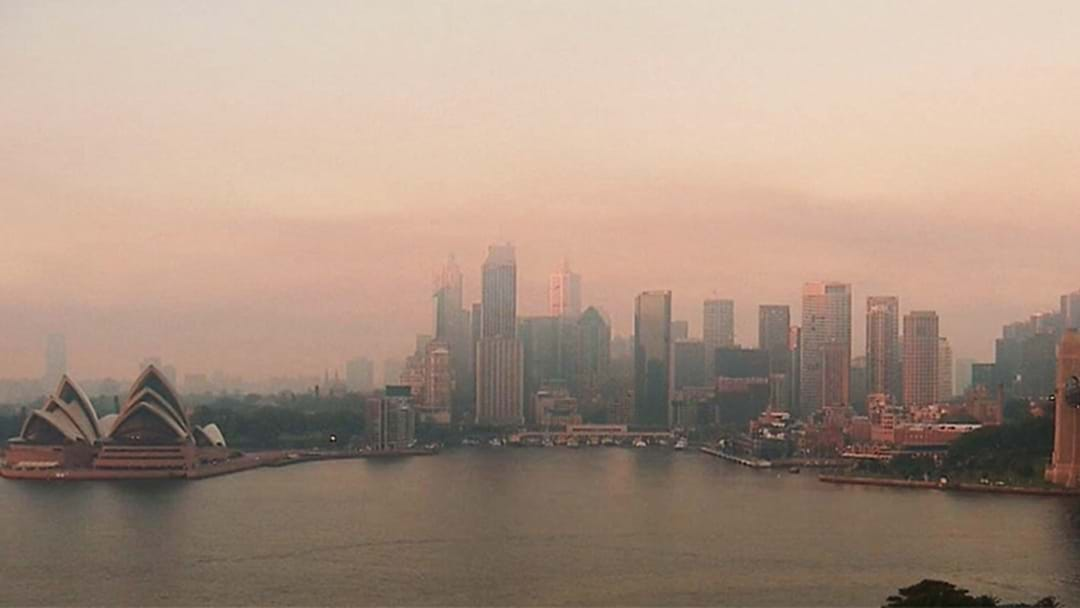 PICTURES: Check Out Sydney Under A Giant Smoke Cloud Right Now