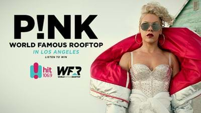 Pink on the World Famous Rooftop!