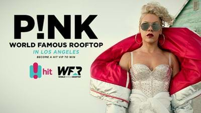 See Pink on the World Famous Rooftop in LA!