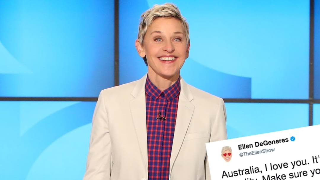Ellen Has A Message For Aussies And Why We Should Say #Yes2Love