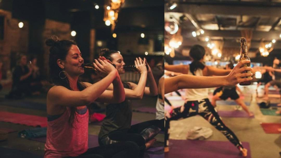 Beer Yoga Has Arrived In Brisbane So Salute To The Stubby