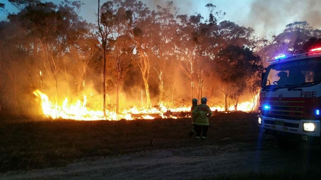 VIDEO: Car Fire Sparks Lake Macquarie Bushfire