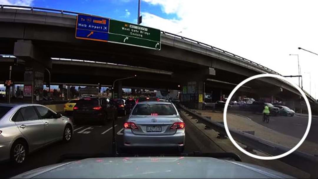 Watch The Alarming Moment A Cyclist Pedals Into Traffic