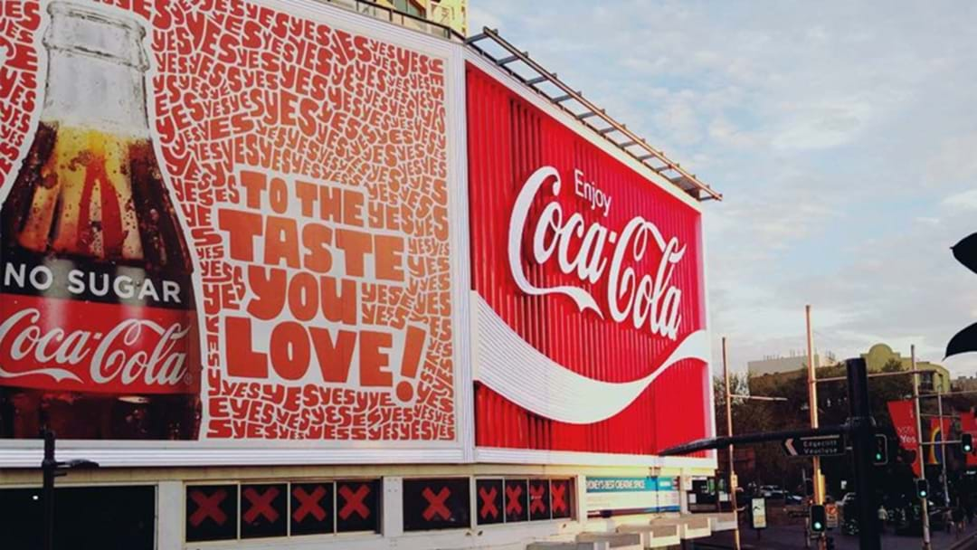 The Iconic Kings Cross Coke Sign Has Been Changed To Promote Voting Yes 2 Love
