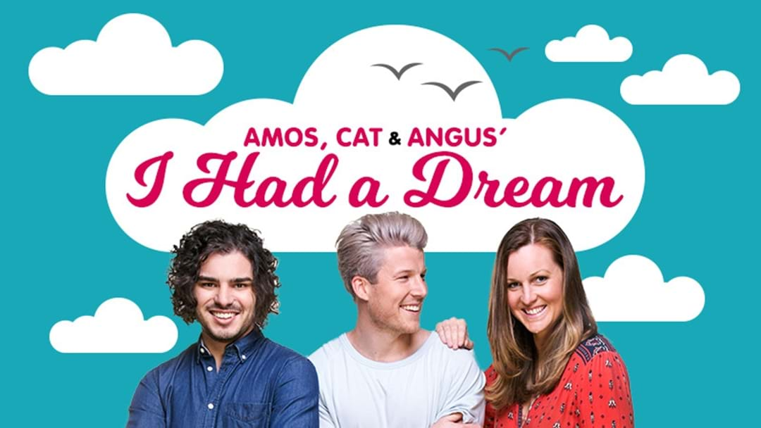 Amos, Cat & Angus could make YOUR (achievable) dream happen!