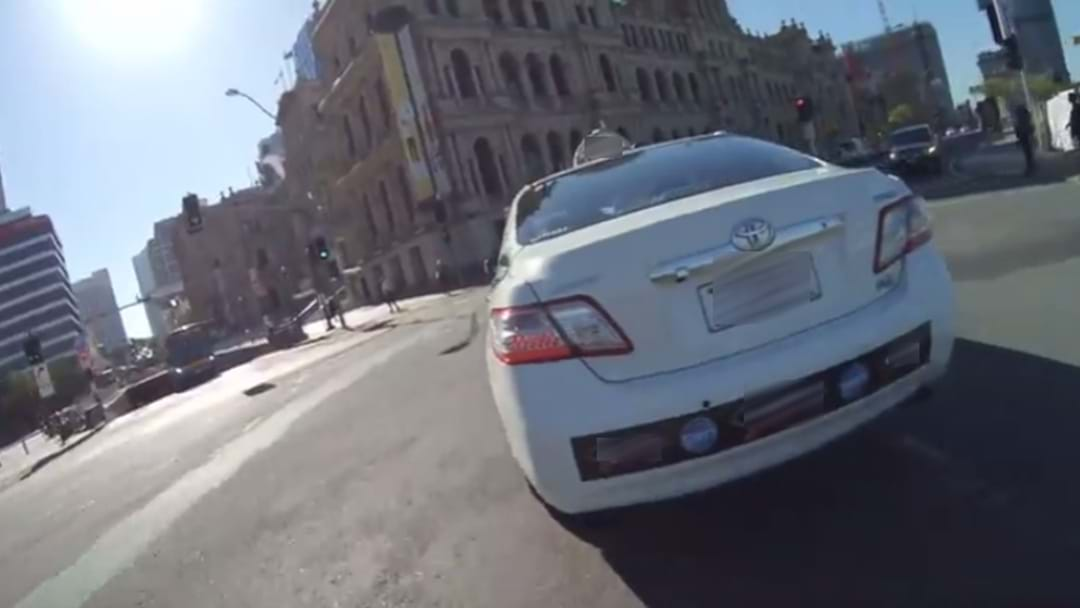 Caught On Camera: Brisbane Cabbie Hurls Abuse At Cyclist