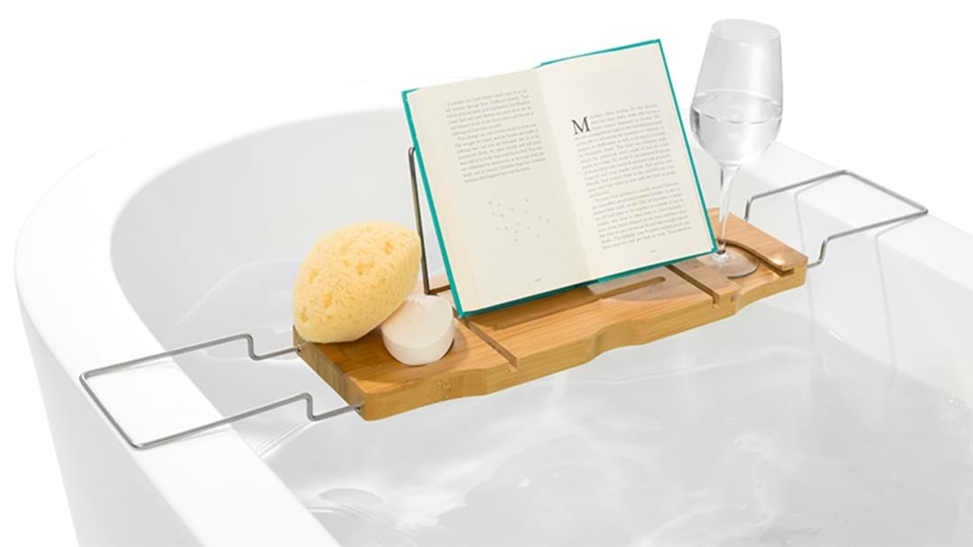 Take Your Bathing To The Next Level With This Bargain Kmart Bath Caddy