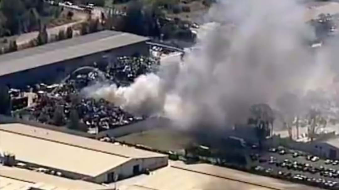 Crews Battling Factory Fire In Western Sydney