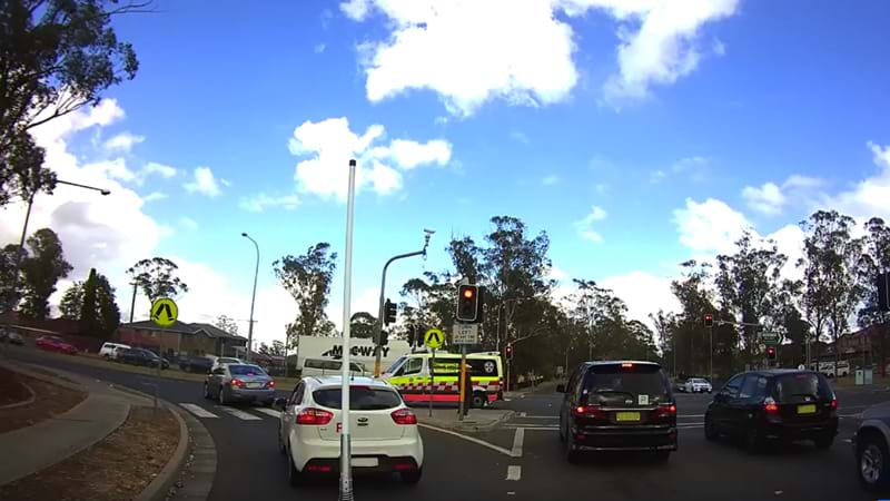 Article heading image for Car Caught On Dash Cam Hitting An Ambulance & Fleeing The Scene In Mt Druitt