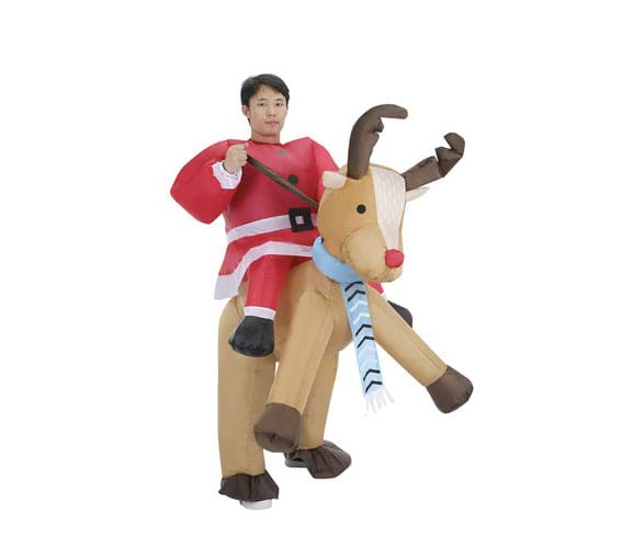 ... of his busy elves but this year Kmart has suggested that parents dress up as Santa riding a reindeer in the new inflatable battery-powered costume !  sc 1 st  Hit Network & We Need To Discuss Kmartu0027s New Inflatable Christmas Costume