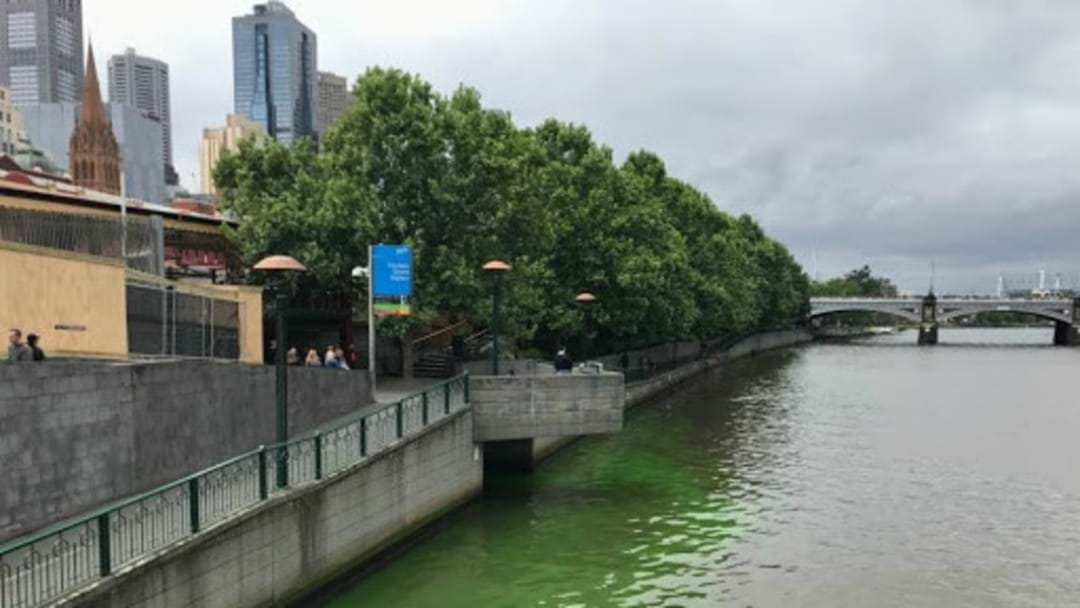 So What Actually Is That Bright Green Liquid In The Yarra River?