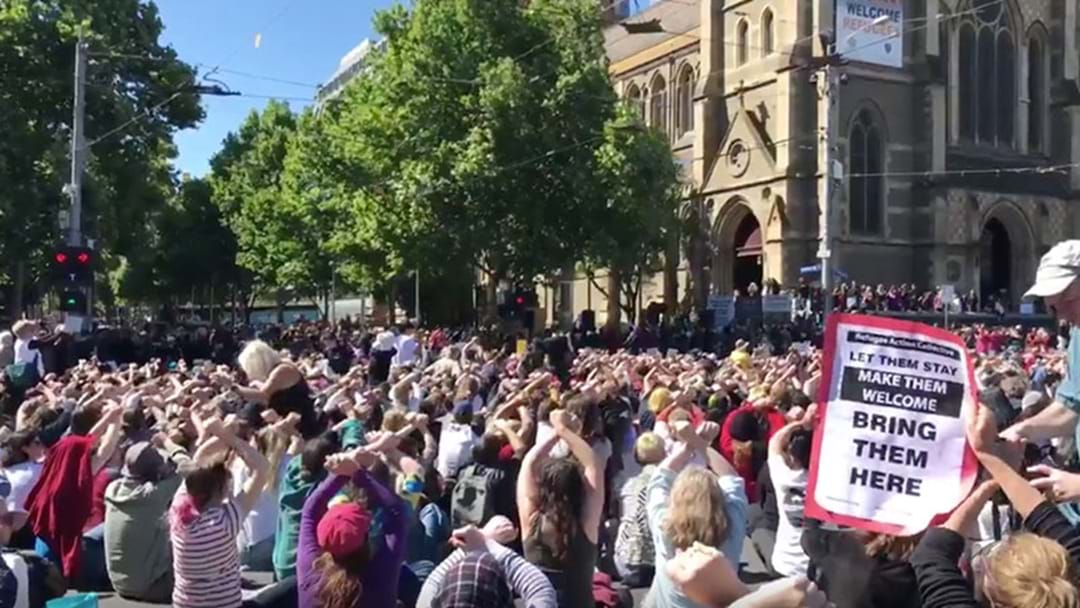 Hundreds Marched Through Melbourne In Support Of Manus Island Asylum Seekers