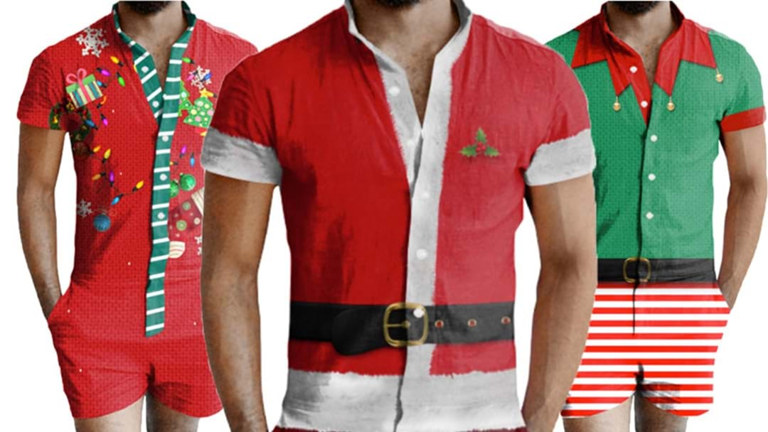 Christmas Rompers For Men Now Exist & They're Actually Pretty Cool!