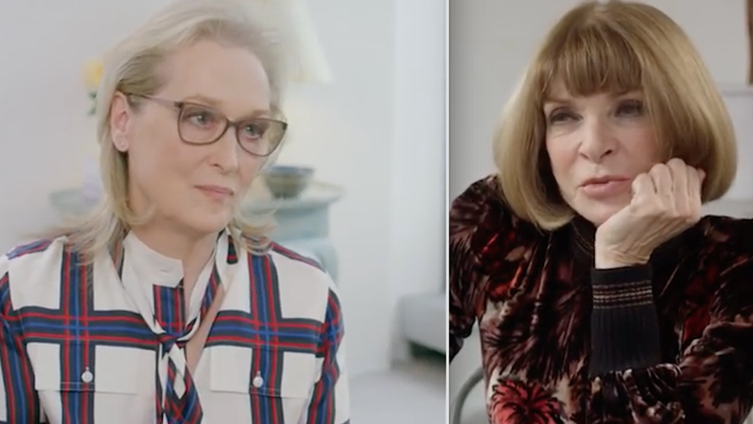 WATCH: Meryl Streep & Anna Wintour Met & It's Intimidating AF