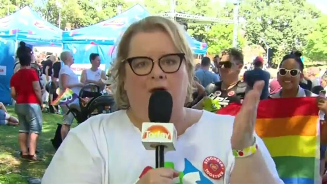 Magda Szubanski Had A Dance Party After The SSM Result Was Announced