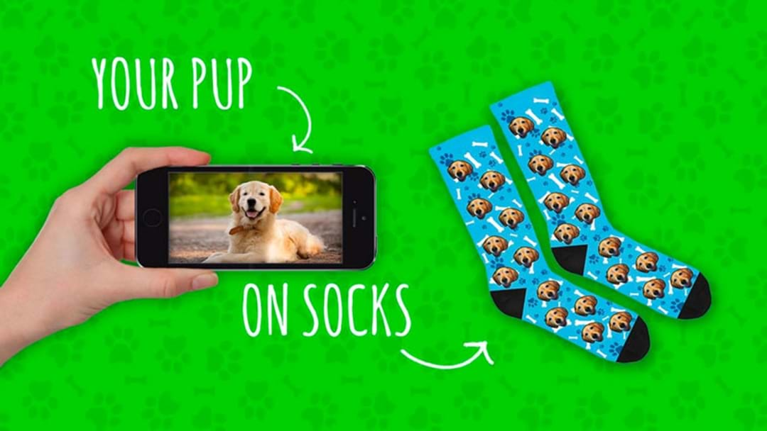 You Can Get Your Dog Printed On Your Sock & I Know What I Want Under The Tree This Year