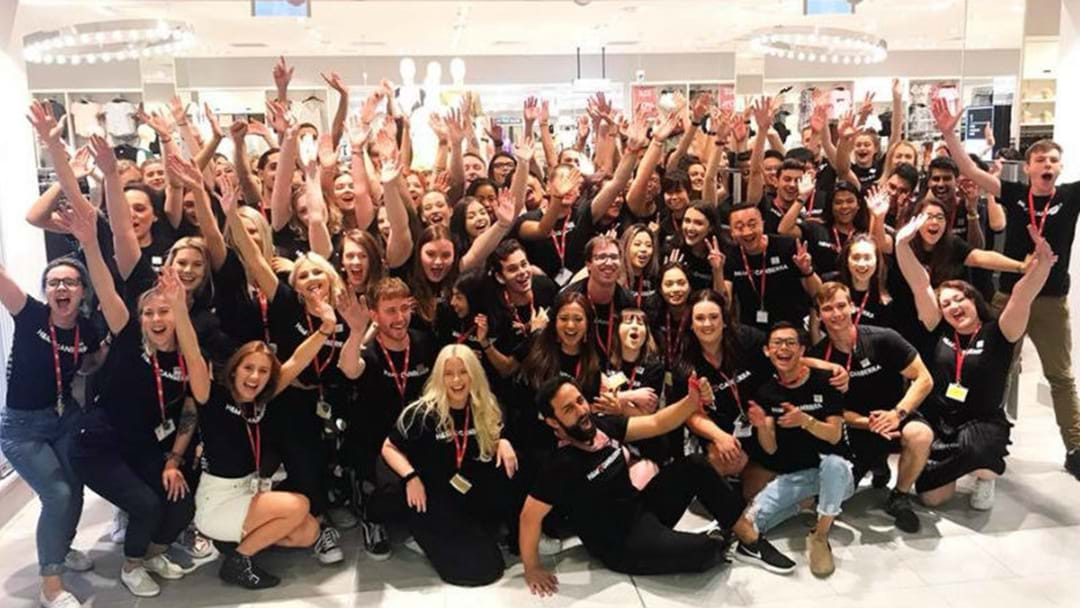 H&M DRAWS HUGE CROWD AT CANBERRA OPENING
