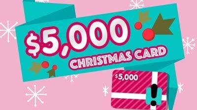 Hit's $5k Christmas Card