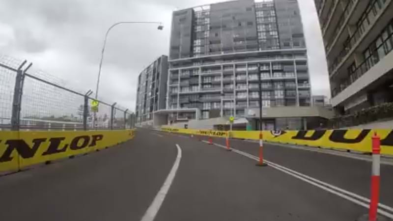 Article heading image for WATCH: Newcastle 500 'Bump Out' On Track