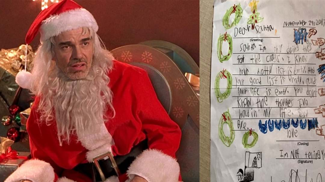 This 6-Year-Old Wrote The Bleakest Santa Letter Ever & We Can't Process It