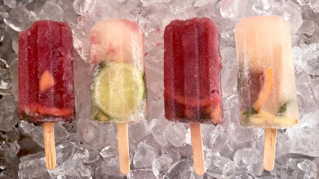 How To Make Sangria Ice Blocks For A Hot Summer's Day!