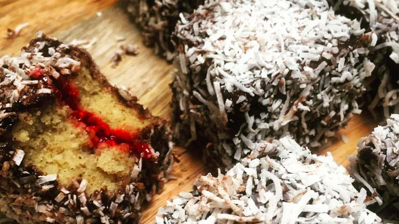 The Vegan Society's Lamingtons