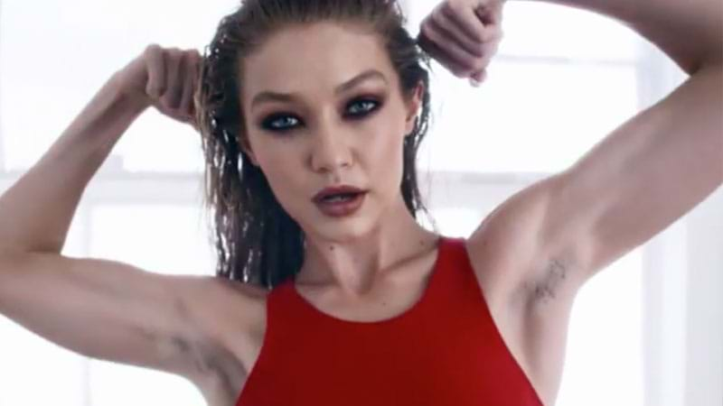 Gigi Hadid rocks armpit hair for LOVE Advent Day 11