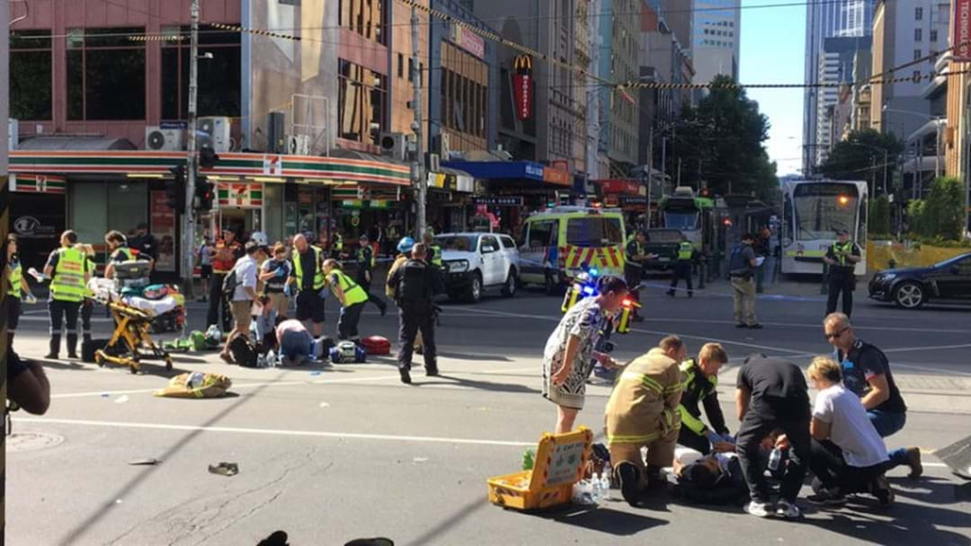 Reports 13 Hospitalised And Two More Treated At Scene After Car Hit Pedestrians In Melbourne CBD