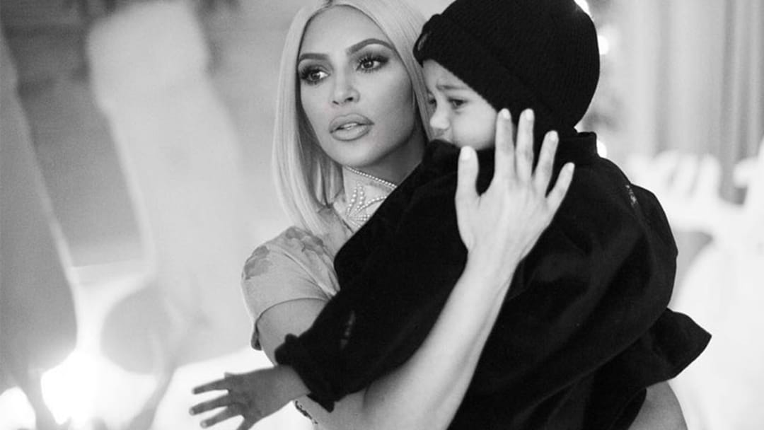 Kim Kardashian Posts Adorable Photo Of Baby Chicago With Saint & Our Hearts Hurt