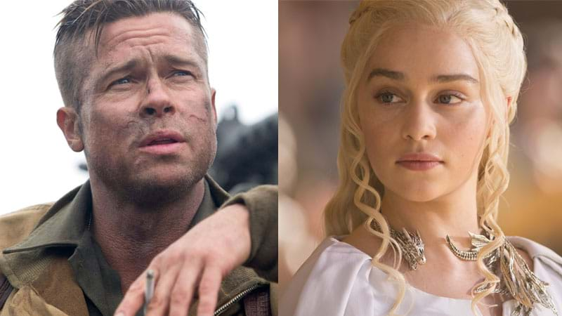 Brad Pitt bid $120000 to watch GOT with Emilia Clarke